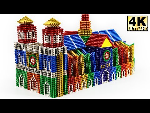 DIY - How To Build Notre Dame Cathedral Paris with Magnetic Balls (ASMR) | Magnetic Man 4K
