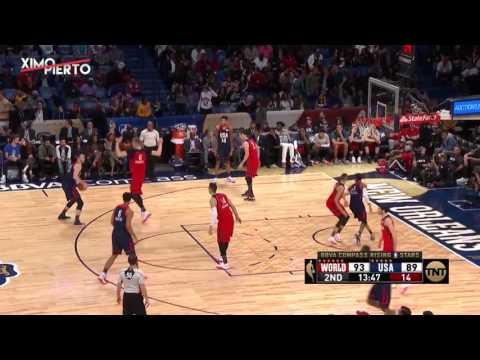 Team World vs Team USA   Full Game Highlights 2017 NBA Rising Stars Challenge