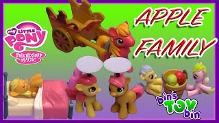 My Little Pony Apple Family Playsets! Applejack, Big Mac, Babs Seed! Review by Bin