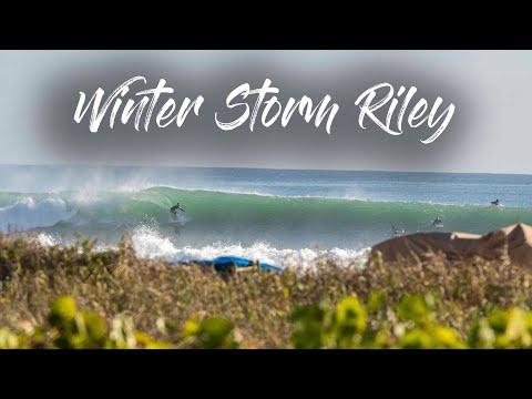 Surfing Winter Storm Riley - Delray Beach, FL - Drone Footage