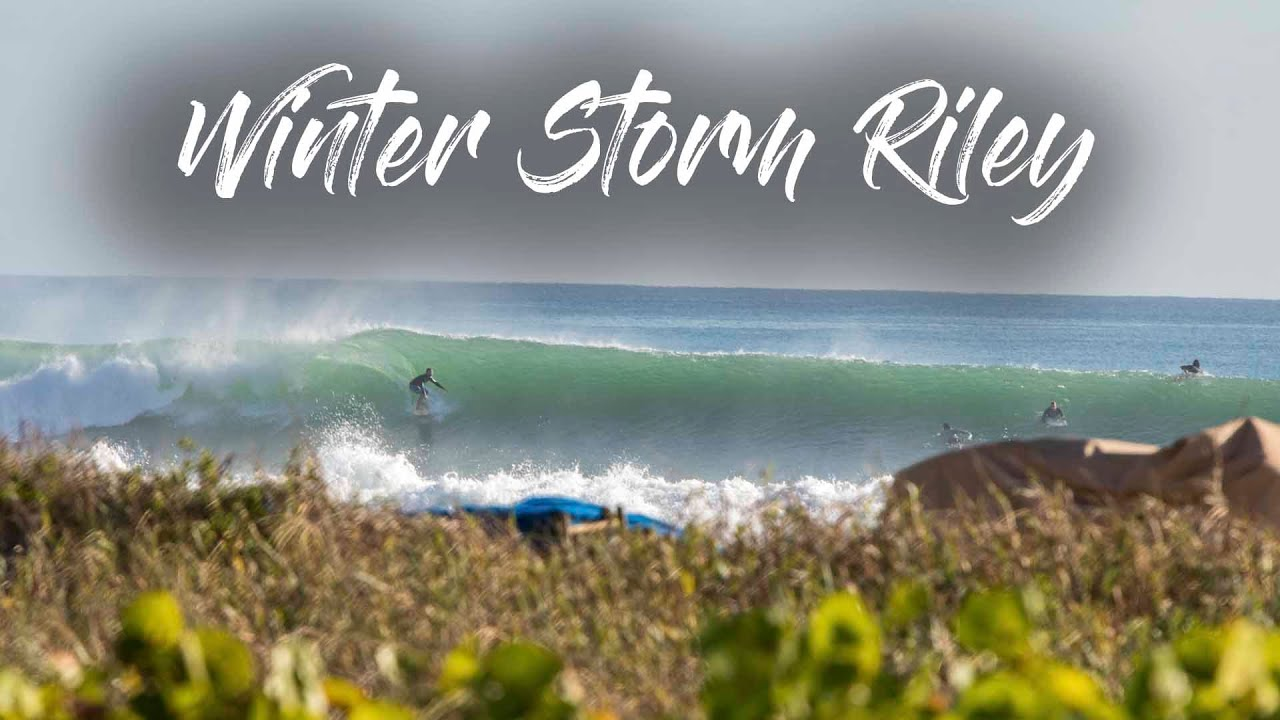 Surfing Winter Storm Riley - Delray Beach, FL - Drone Footage