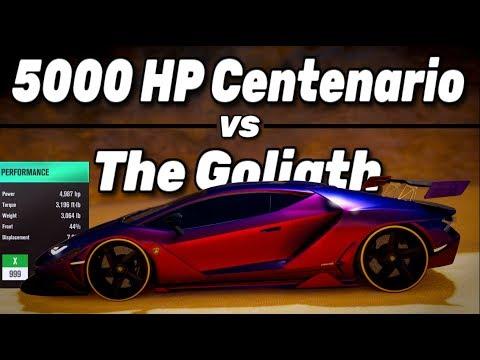 Forza Horizon 3 - 5000HP Centenario Vs The Goliath - Dev Build