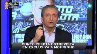 Enfado de Pedrerol por las críticas a la entrevista de Punto Pelota a Mourinho