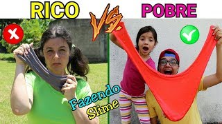 RICO VS POBRE FAZENDO AMOEBA / SLIME #4