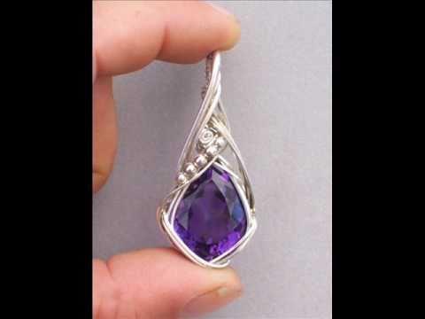 Wire wrap gemstone pendants youtube wire wrap gemstone pendants mozeypictures Gallery