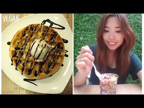 Singapore vlog #5 ☆ All day eating VEGAN desserts 2017 하루종일 비건 디저트 먹기