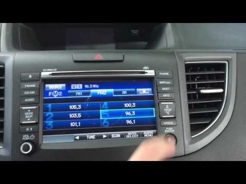 Honda CRV Navigation Screen