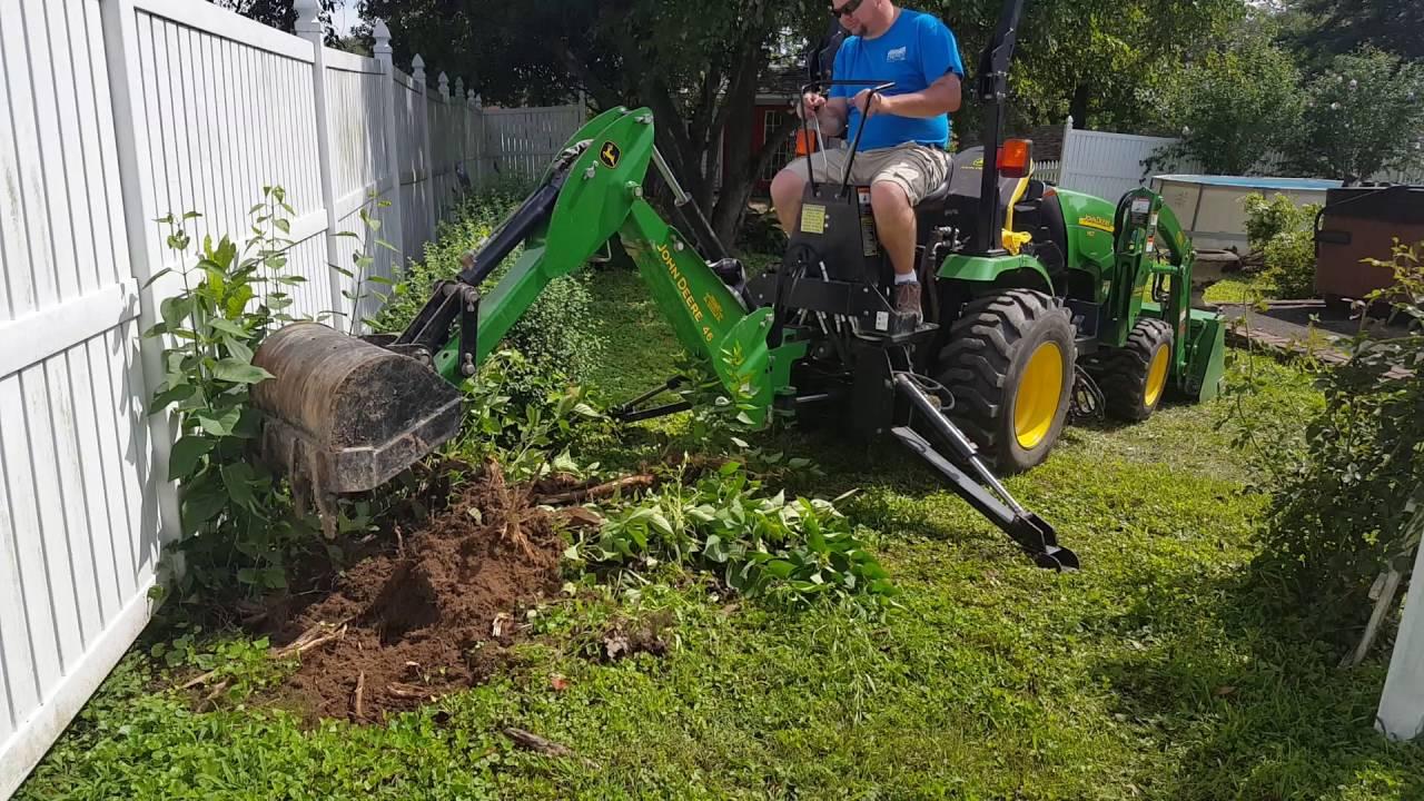 John Deere Backhoe Attachment >> 2320 John Deere Compact Tractor John Deere 46 Backhoe - YouTube