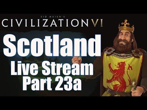 Civ 6 Livestream - Rise and Fall Expansion! - Scotland (Deity) - Part 23a