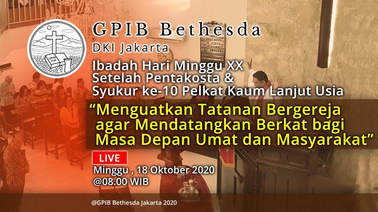 Ibadah Hari Minggu XX Sesudah Pentakosta & Syukur HUT ke-10 Pelkat PKLU (18 Oktober 2020)