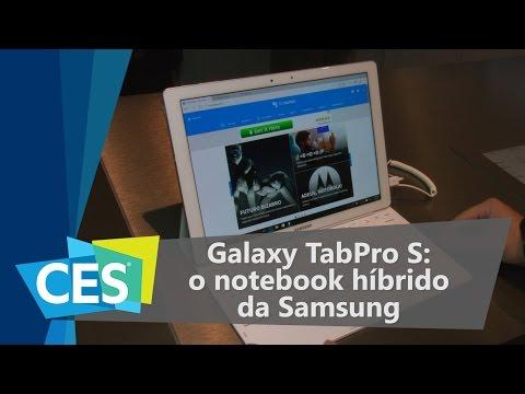 Galaxy TabPro S é O Notebook Híbrido Da Samsung - CES 2016 - TecMundo
