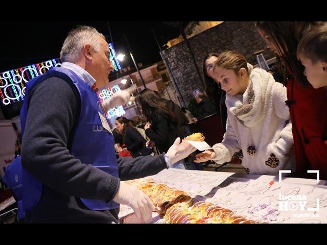 Vídeo: El Roscón Gigante de Reyes distribuye miles de porciones de solidaridad con Helena en el preámbulo de la fiesta de Reyes Magos