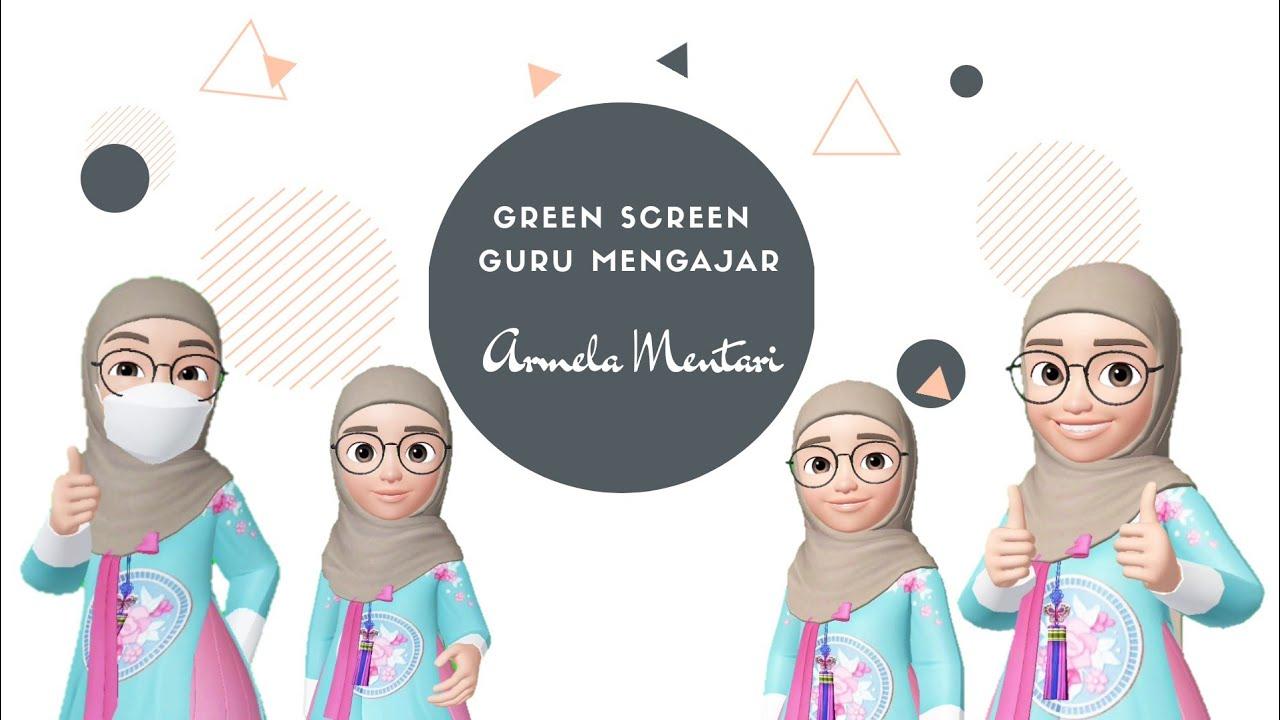 Green Screen Guru Mengajar Memakai Masker Animasi Muslim Bergerak Pakai Hijab Baju Korea Part2 Youtube