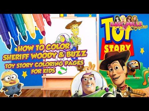 Toy Story Toons Sheriff Woody Jessie Buzz Lightyear Rex Mr Potato Head Bullseye Horse All Disney Toy Story Characters For Kids Youtube