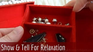 [HD] ASMR Stereo whispering - Old Jewellery Collection - Show & tell