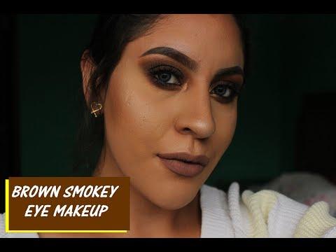 BROWN SMOKEY EYE MAKEUP  Hilary Cruz