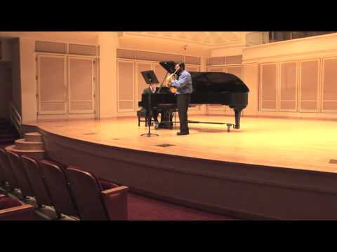 Saint-Saëns Romance in E, opus 67 from my Master's Recital, December 6th 2012
