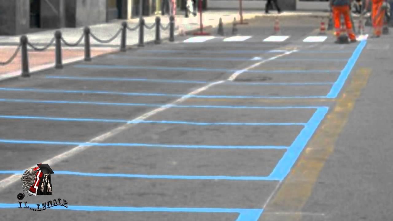 Dipingere Strisce Parcheggio : Il legale le strisce blu nei parcheggi youtube