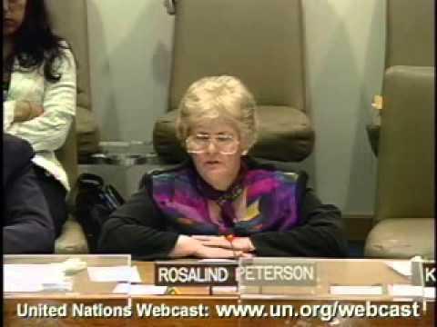Rosalind Peterson 2007 UN Climate Change Conference