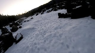 Lava Flow in the Snow ... One Last Rip