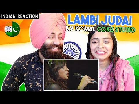 Indian Reaction on Lambi judai by komal Coke Studio | PunjabiReel TV
