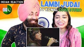 Indian Reaction on Lambi judai by komal Coke Studio | PunjabiReel TV