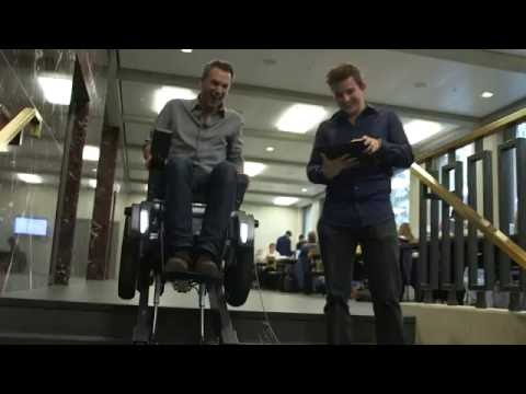 Spencer gets stuck on a stair-climbing wheelchair - BBC Click