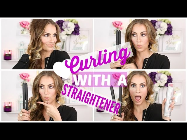 How To: Curl Your Hair with a Straightener/Flat Iron - EASY Tutorial!