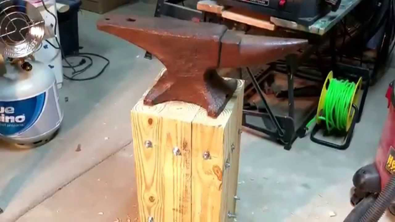 Anvil Stand Super Strong Organic And No Welding Youtube