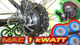 Редукторное мотор колесо 500 - 1000 Вт MAC 8T. Электровелосипед своими руками