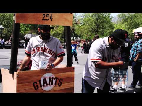 Pablo Sandoval Hands Out Panda Shakes