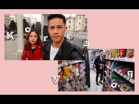 Korea Couple Vlog   Myeongdong Shopping, Street Food, Hongdae