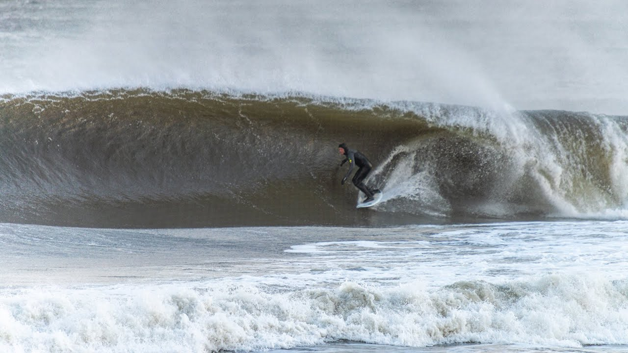 Surfing the Biggest South Swell of the Year in NJ