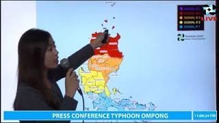 WATCH! LATEST WEATHER UPDATE TYPHOON OMPONG