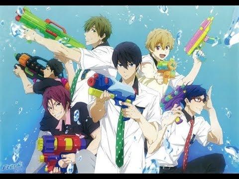 Free! Water Gun Battle Full Scene English Dub