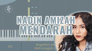 Nadin Amizah - Mendarah Instrumental Piano Karaoke / Chord / Lirik / Tutorial