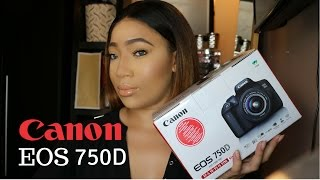 Unboxing My New Camera Canon EOS 750D Rebel T6i amp 18-55 IS STM Kit