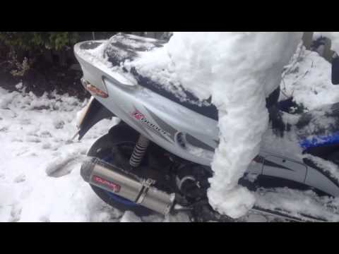 GILERA RUNNER 210 SICK SNOWMAN IN THE HOOD, BLUE MAK1O BULL