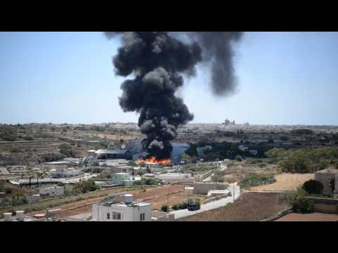 Fire at Wasteserv Malta Ltd.