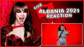 Albania | Eurovision 2021 Reaction | Anxhela Peristeri - Karma - LIVE
