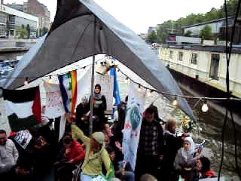 Départ du Gaza Freedom Solidarity Boat Bruxelles