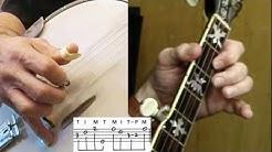 """5-String Banjo Instructional Tutorial: """"I'll Fly Away"""""""