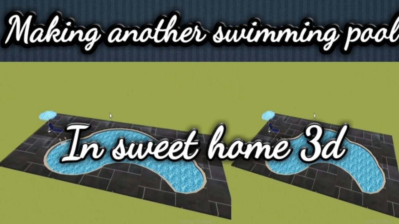 How To Make Swmming Pool In Sweet Home 3d Youtube