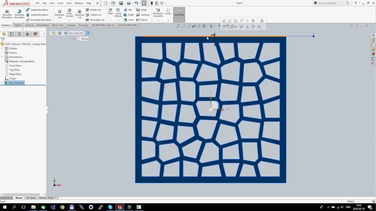 Voronoi pattern generator in Qt C++ & candle holder using SolidWorks
