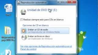 Como quemar un disco sin programas (Reproductor Windos media)
