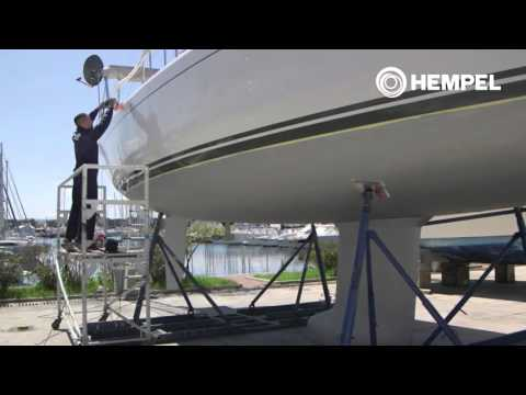 How to polish and protect the gelcoat with Hempel's Custom Marine Polish UK