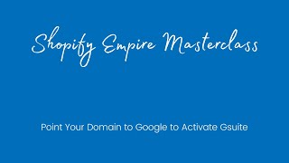 Point Your Domain to Google to Activate Gsuite