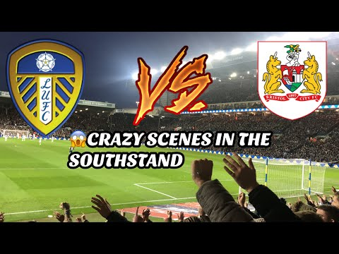 LEEDS UNITED 2-0 BRISTOL CITY - CRAZY SCENES IN THE SOUTHSTAND!!😍 (24/11/18)