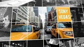 Best Intro Templates Sony Vegas Pro : Squared Slideshow