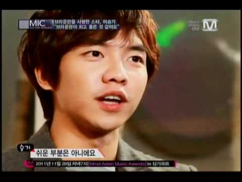 Lee Seung Gi Mnet Mic interview . 111127 . 3/3